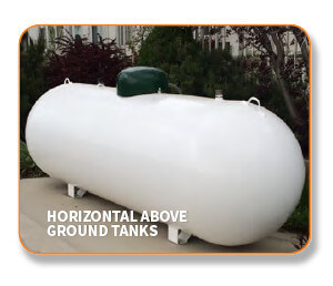 Above ground propane tank