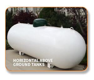 Above ground propane tank